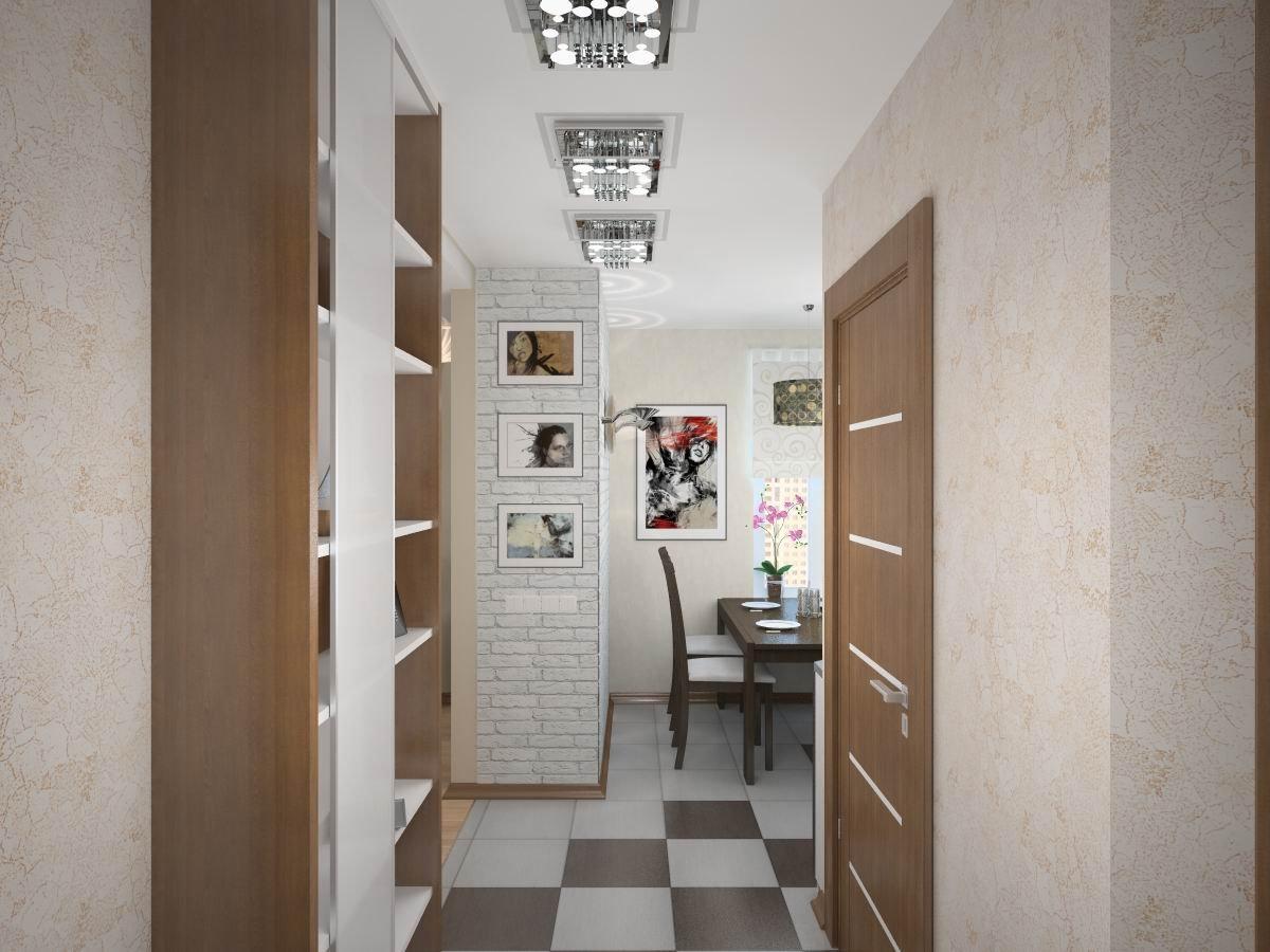 Ремонт в узком коридоре фото