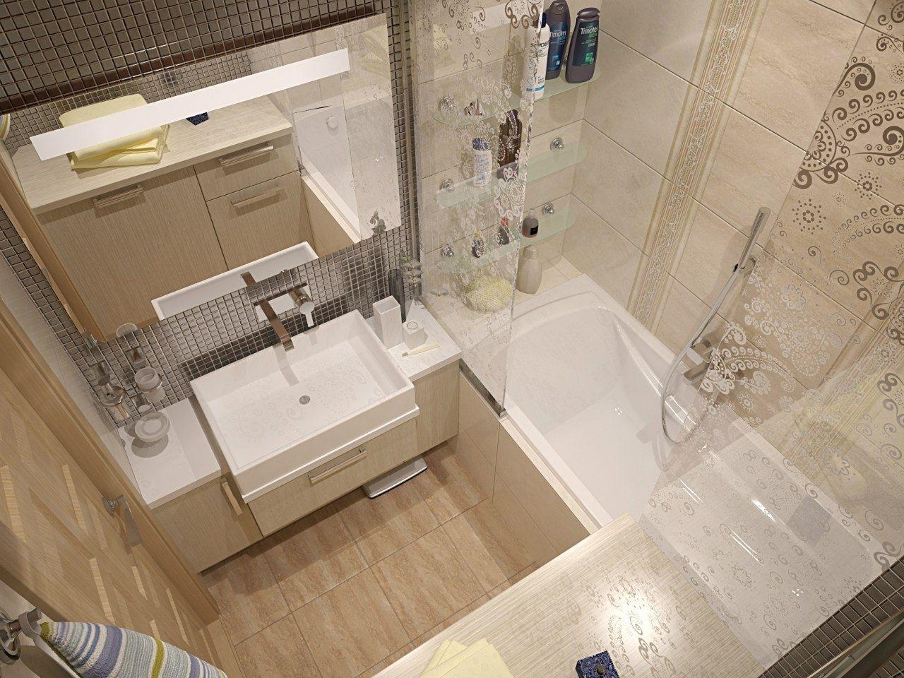 Дизайн плитки в маленькой ванной комнате фото