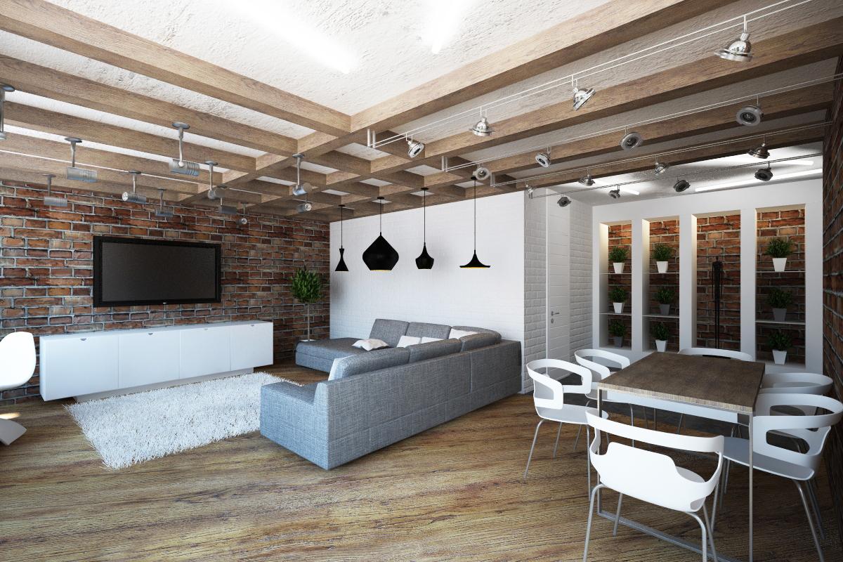 6a3d55f977012 Ремонт квартиры в стиле лофт в Санкт Петербурге, дешевый ремонт ...